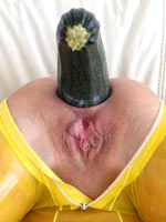 Oversized Zucchini in the ass